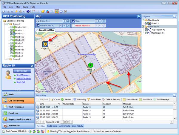 TRBOnet™ GSP Monitoring